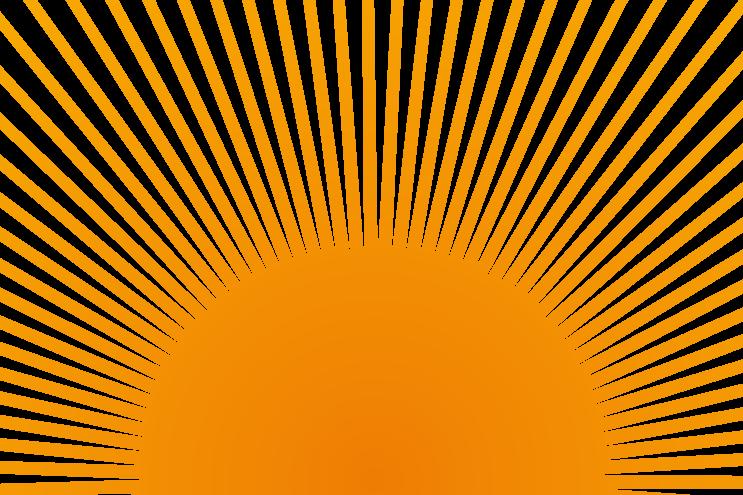 Sonne orange